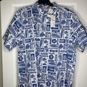 Tommy Bahama Size XL Floral Hawaiian Camp Shirt